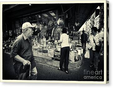 Chinatown Streetlife New York City Canvas Print by Sabine Jacobs