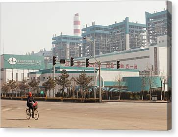 Chinese Coal Fired Power Station Canvas Print by Ashley Cooper