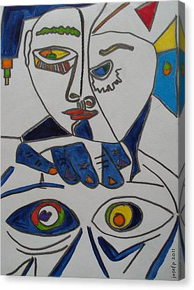 Chinese Fisheyes Part One Canvas Print by Sir Josef Social Critic - ART