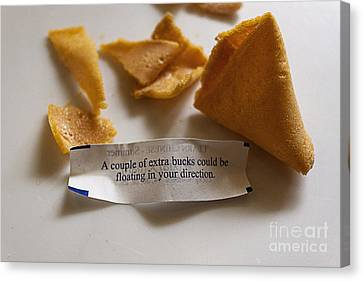 Chinese Fortune Cookie Canvas Print by Janice Rae Pariza