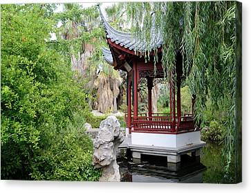 Chinese Garden Canvas Print by Chris Hellier