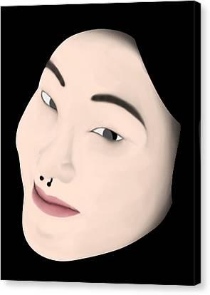 Chinese Girl Canvas Print by Sara Ponte