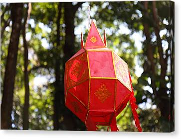 Chinese Lanterns - Wat Phrathat Doi Suthep - Chiang Mai Thailand - 01137 Canvas Print by DC Photographer