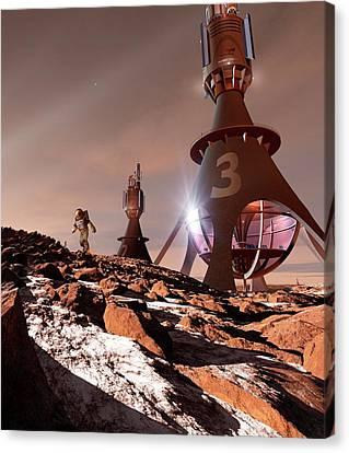 Chinese Mars Mission Canvas Print by Detlev Van Ravenswaay