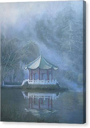 Chinese Pavilion Canvas Print by Leonard Filgate