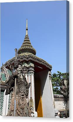 Chinese Statue Guards - Wat Pho - Bangkok Thailand - 01131 Canvas Print by DC Photographer
