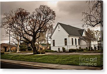 Chino Old School House - 04 Canvas Print by Gregory Dyer