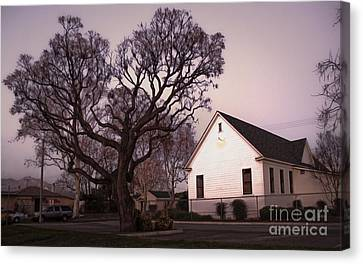 Chino Old School House At Dusk- 03 Canvas Print by Gregory Dyer