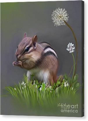 Chipmunk Canvas Print by Lena Auxier
