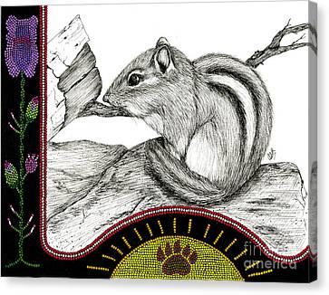 Chipmunk's Stripes Canvas Print by Christine Matha