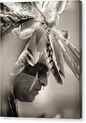 Chippewa Indian Dancer Canvas Print by Dick Wood