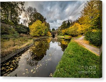 Chirk Canal Canvas Print by Adrian Evans