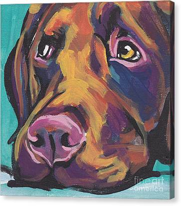 Choco Lab Love Canvas Print by Lea S