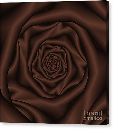 Chocolate Rose Spiral Canvas Print by Colin  Forrest