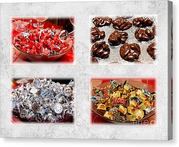 Choice Of Chocolate 4 X 4 Collage 2 - Sweets - Candy Shoppe Canvas Print by Andee Design