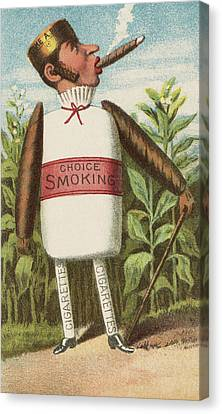 Choice Smoking Canvas Print by Aged Pixel