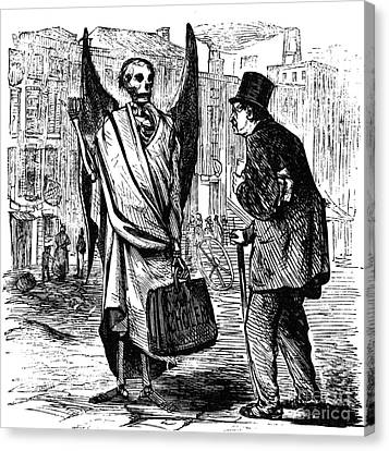 Cholera In Slums, 1866 Canvas Print by Granger