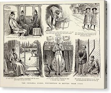 Cholera Prevention Methods Canvas Print by British Library