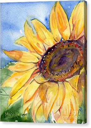 Choose To Shine Canvas Print by Maria's Watercolor