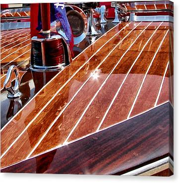 Chris Craft Bow Canvas Print by Michelle Calkins
