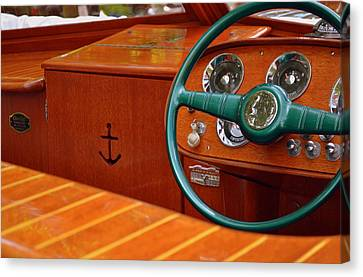 Chris Craft Cockpit Canvas Print by Michelle Calkins