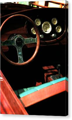 Chris Craft Interior With Gauges Canvas Print by Michelle Calkins
