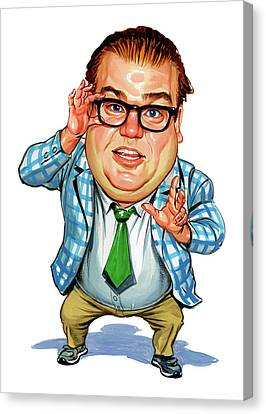 Chris Farley As Matt Foley Canvas Print by Art
