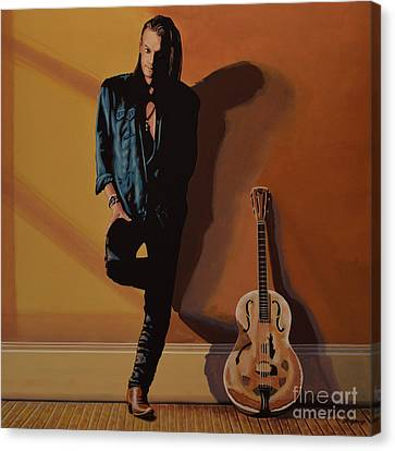 Chris Whitley Canvas Print by Paul Meijering