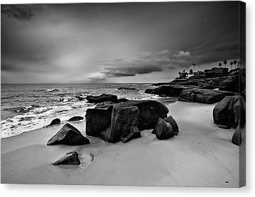 Chris's Rock 2013 Black And White Canvas Print by Peter Tellone