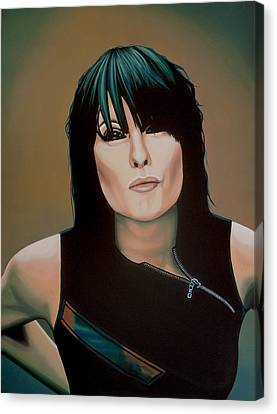 Chrissie Hynde Painting Canvas Print by Paul Meijering