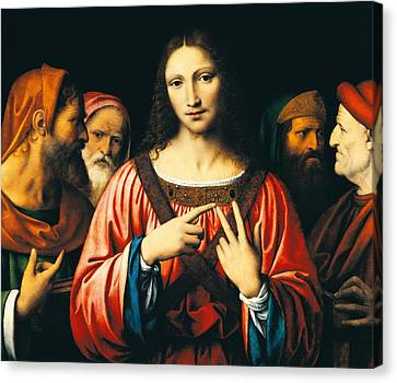 Christ Among The Doctors Canvas Print by Bernardino Luini