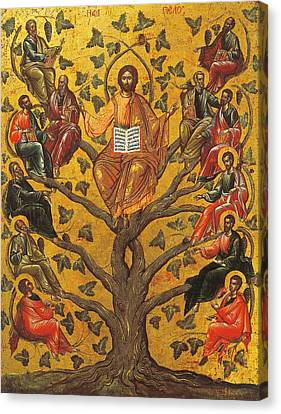 Christ And The Apostles Canvas Print by Unknown