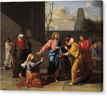 Christ And The Canaanite Woman, 1783-84 Oil On Canvas Canvas Print by Jean-Germain Drouais