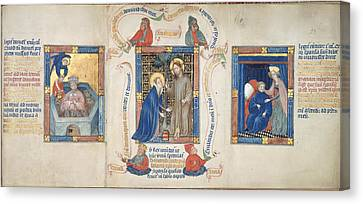 Christ Appears To Magdalene Canvas Print by British Library