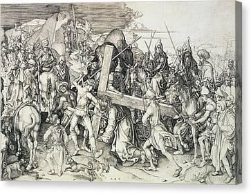 Christ Bearing His Cross Canvas Print by Martin Schongauer