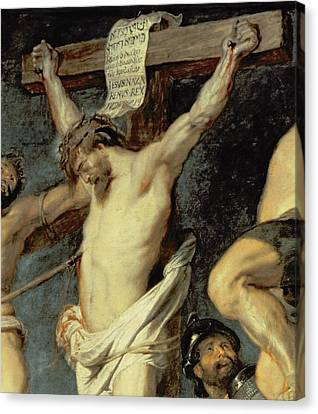 Christ Between The Two Thieves, 1620 Canvas Print by Peter Paul Rubens