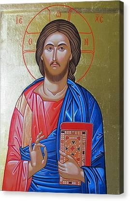 Christ Blessing Canvas Print by Andreea Ioana Bagiu