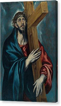 Christ Carrying The Cross Canvas Print by Celestial Images