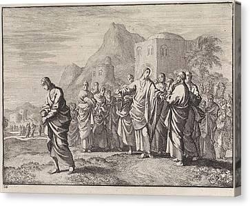 Christ Gives Advice To A Rich Young Man, Jan Luyken Canvas Print by Jan Luyken