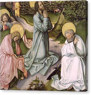 Christ In Gethsemane  Canvas Print by Hans Leonard Schaufelein