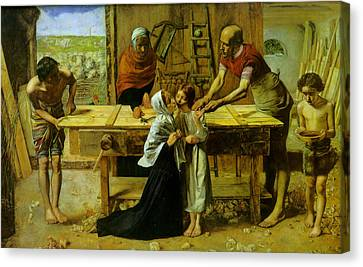 Christ In The House Of His Parents Canvas Print by John Everett Millais