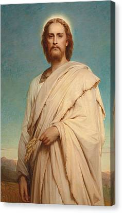 Christ Of The Cornfield Canvas Print by Thomas-Francis Dicksee