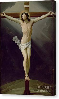 Christ On The Cross Canvas Print by Guido Reni