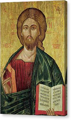 Christ Pantocrator Canvas Print by Bulgarian School