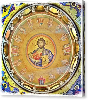 Christ Pantocrator -- Church Of The Holy Sepulchre Canvas Print by Stephen Stookey