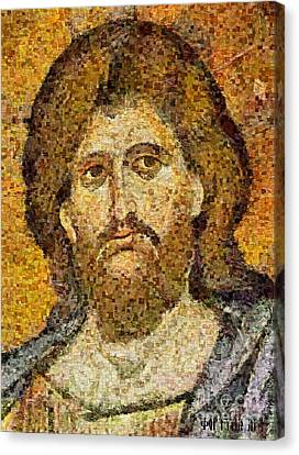 Christ Pantocrator From Monreale Canvas Print by Dragica  Micki Fortuna