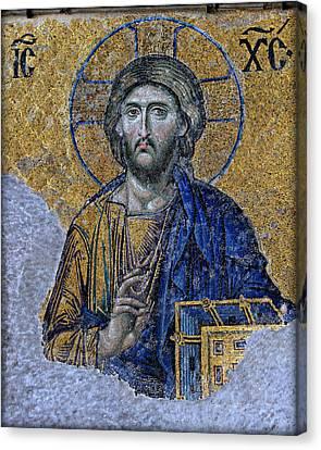 Christ Pantocrator -- Hagia Sophia Canvas Print by Stephen Stookey