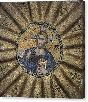 Christ Pantocrator Surrounded By The Prophets Of The Old Testament 1 Canvas Print by Ayhan Altun