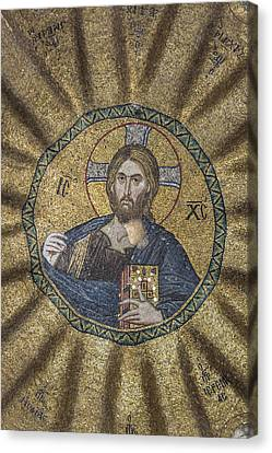 Christ Pantocrator Surrounded By The Prophets Of The Old Testament 2 Canvas Print by Ayhan Altun