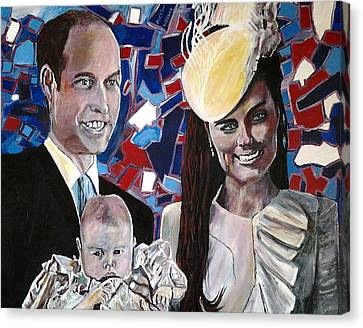 Christened Prince George Canvas Print by Mickton Wellbee